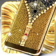 Gold lock screen Apk by Premium zipper lock screen