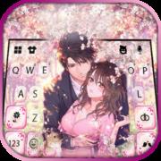 Sakura Couple Love Keyboard Background Apk by New 2021 Themes for Emoji keyboard